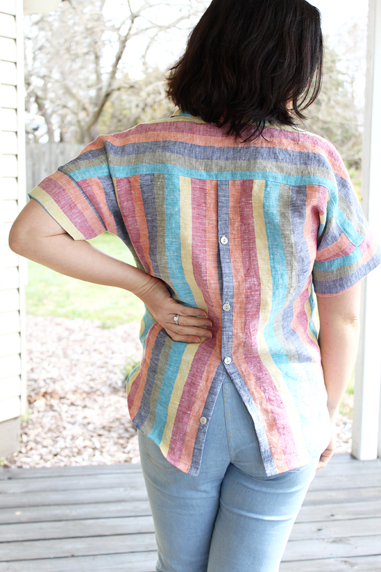 Button Back Willamette Shirt // Sewing For Women