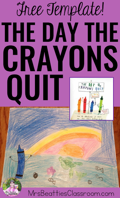 The Day the Crayons Quit is a great mentor text to get your students inspired to write! Take a look at the story and grab a FREE art template that will serve as the perfect writing inspiration for the students in your elementary classroom!