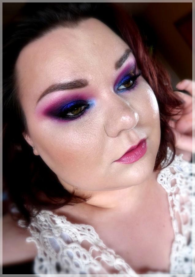 lila pinker dramatisches augen makeup
