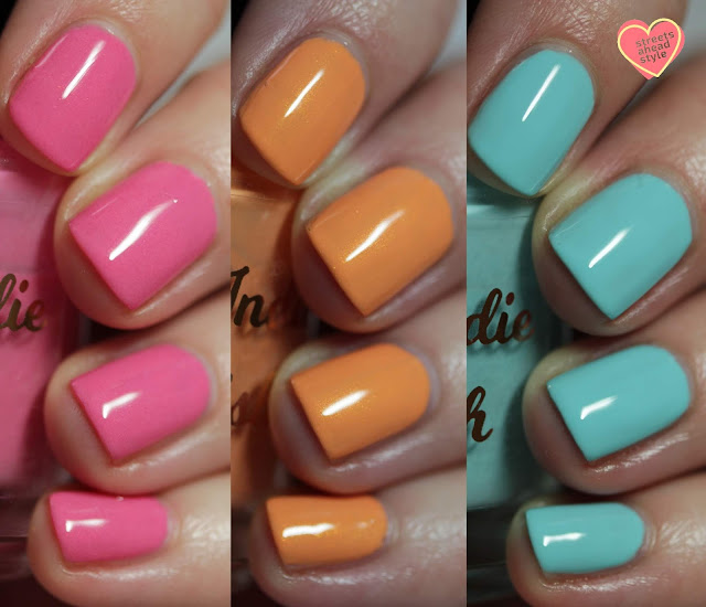 My Indie Polish Spring Cream Trio swatch by Streets Ahead Style