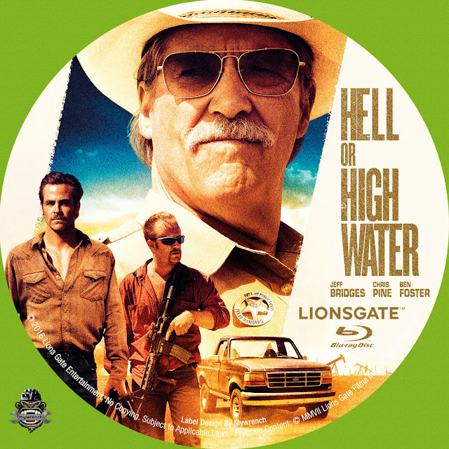 Hell Or High Water Bluray Label