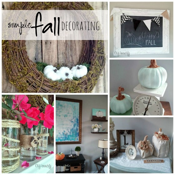 Simple fall decorating at www.diybeautify.com