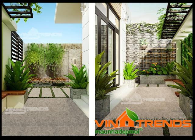 Thiết kế vườn xinh trong mẫu biệt thự nhà vườn 1 tầng đẹp tôn tạo mỹ quan đô thị