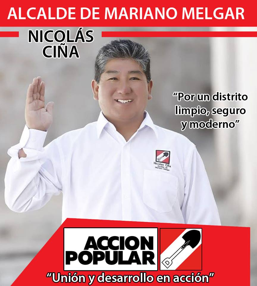 Nicolás Ciña Alcalde de Mariano Melgar