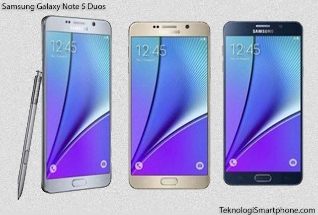 Spesifikasi dan Harga Samsung Galaxy Note 5 Duos