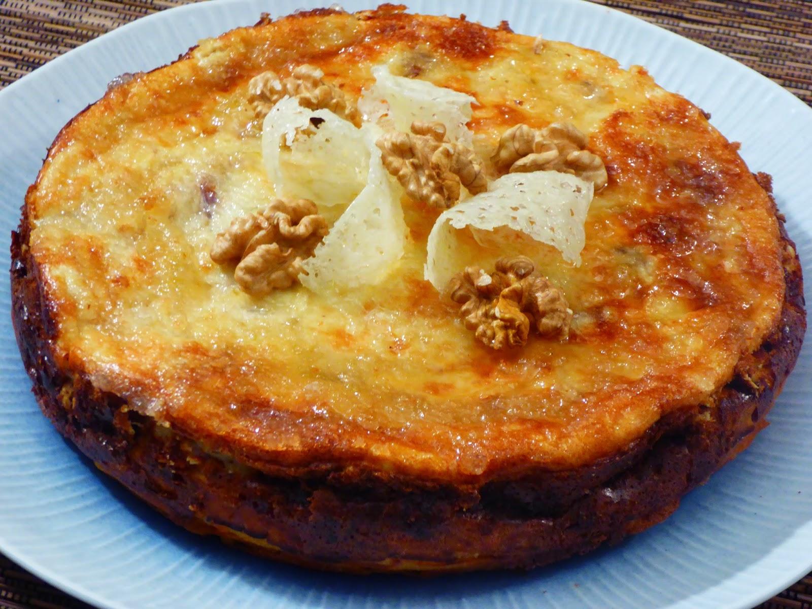 Cheesecake pecorino noci e pere