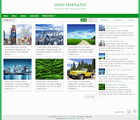 Green Gremble Blogger Responsive Templates