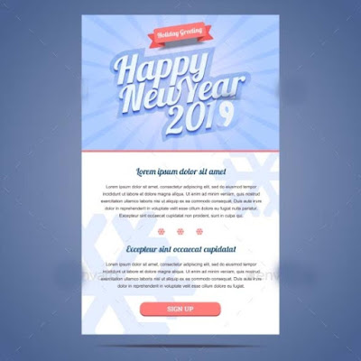 New year greeting email