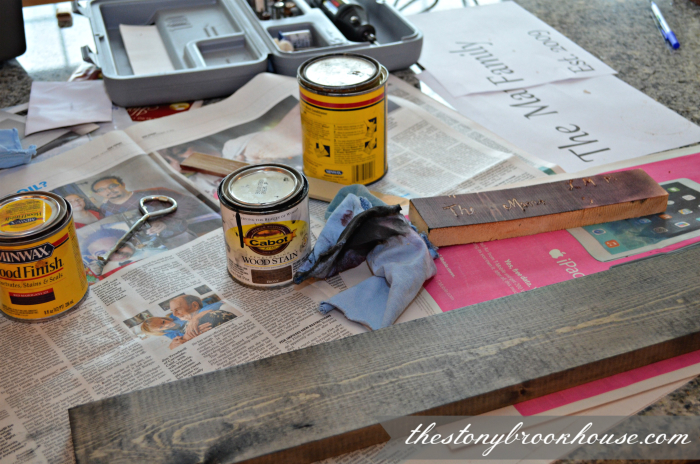 Staining boards