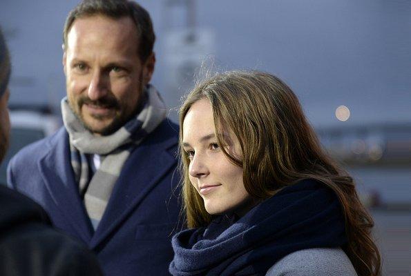 Princess Ingrid Alexandra christened Norway's new research vessel, 'Kronprins Haakon' in Tromsø. Crown Princess Mette-Marit