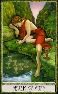seven of cups, Druidcraft Tarot