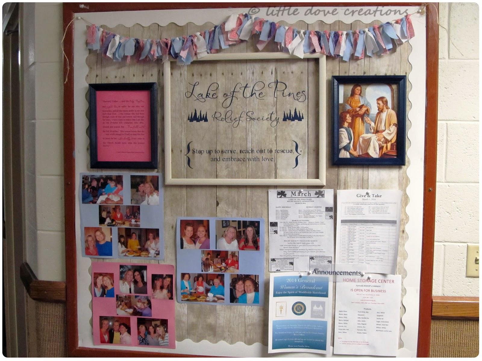Springtime Relief Society Bulletin Board Little Dove Blog