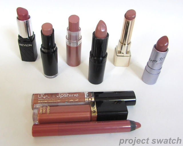 Drugstore Nude and Neutral Lipstick Swatches & Comparison