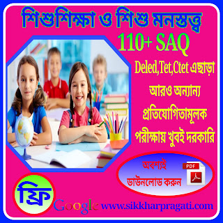 Download Child Studies (শিশু শিক্ষা ও শিশু মনস্তত্ত্ব)  SAQ