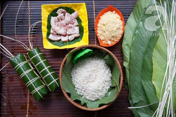 Nguyen lieu lam banh chung