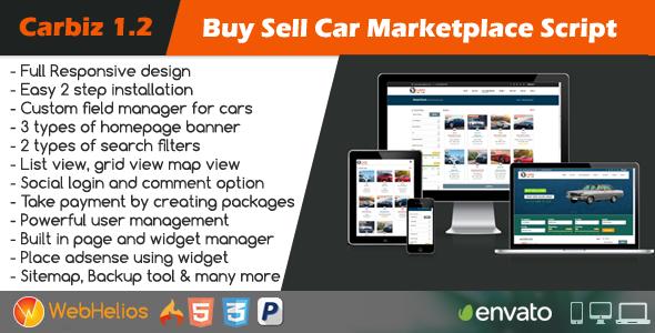 Carbiz v1.2 - Buy Sell Car Marketplace Script