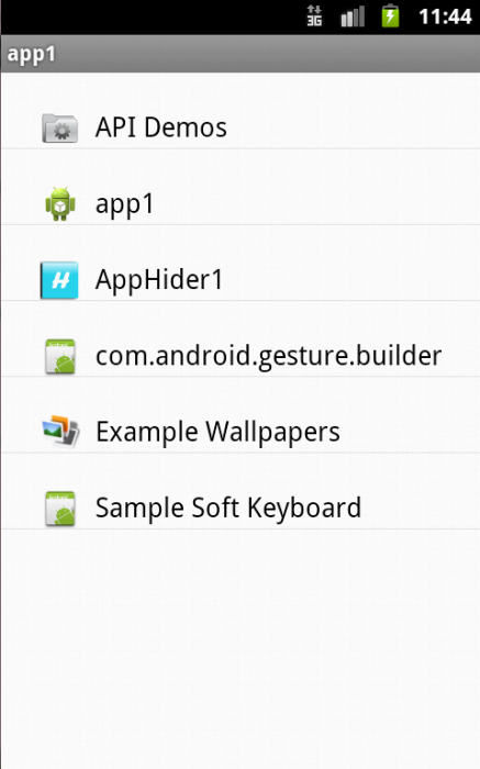 Get Installed Application in List view using Custom Adapter
