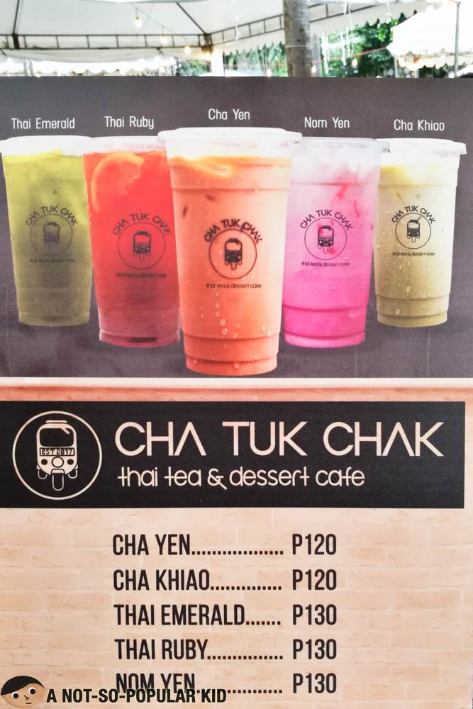 Cha Cha Cafe Menu