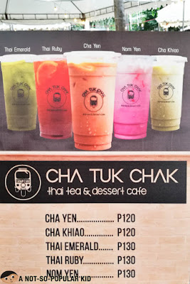 Prices of Cha Tuk Chak Thai Tea