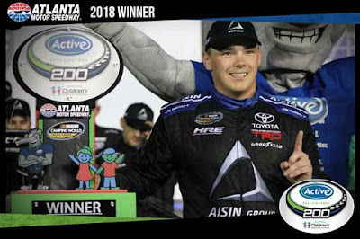 Brett Moffitt Wins Active Pest Control 200 Benefiting Children's Healthcare Of Atlanta - #NASCAR