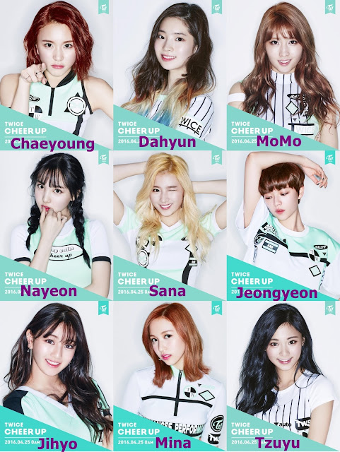 twice cheer up integrantes members