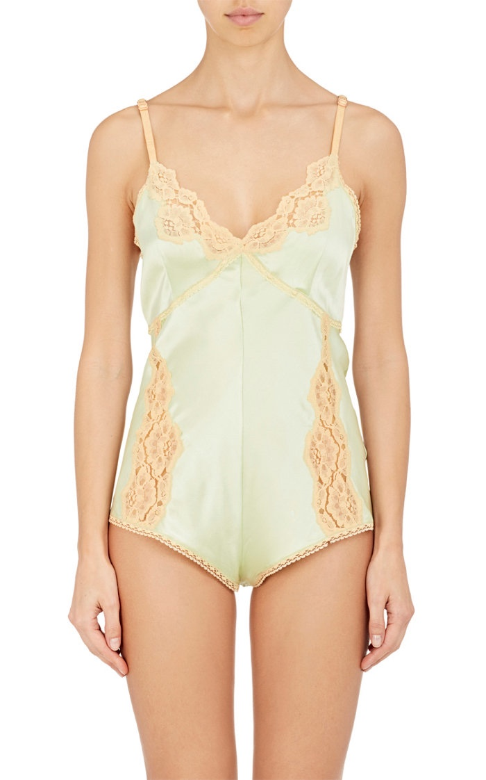 Raven & Sparrow by Stephanie Seymour Kendra Stretch Silk Charmeuse Romper