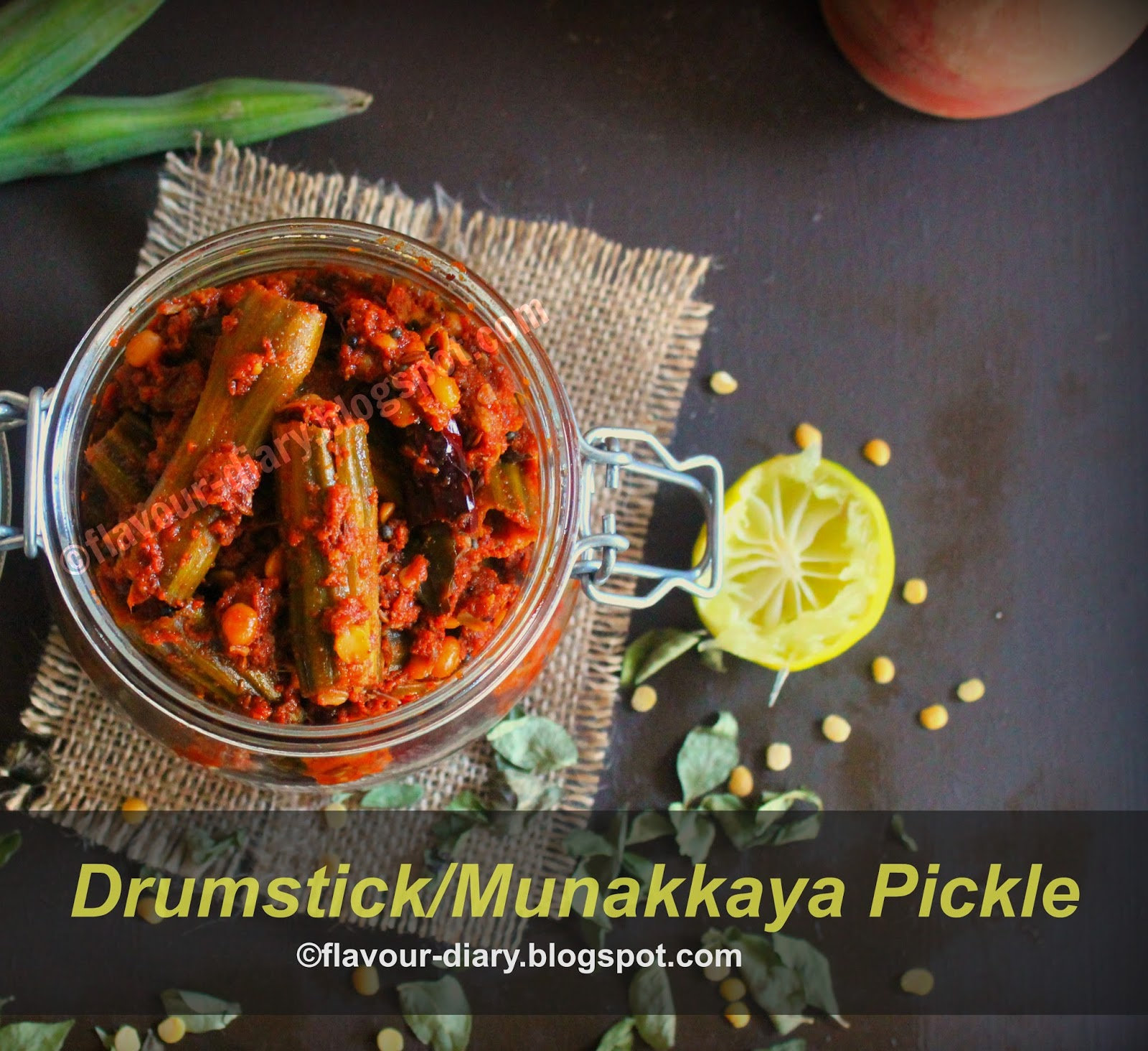 Drumstick Munakkaya Pickle