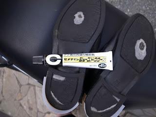 セメダイン シューズドクターNで靴底の盛盛補修8