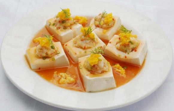 Cách làm món Đậu hũ non hấp trứng muối ngon