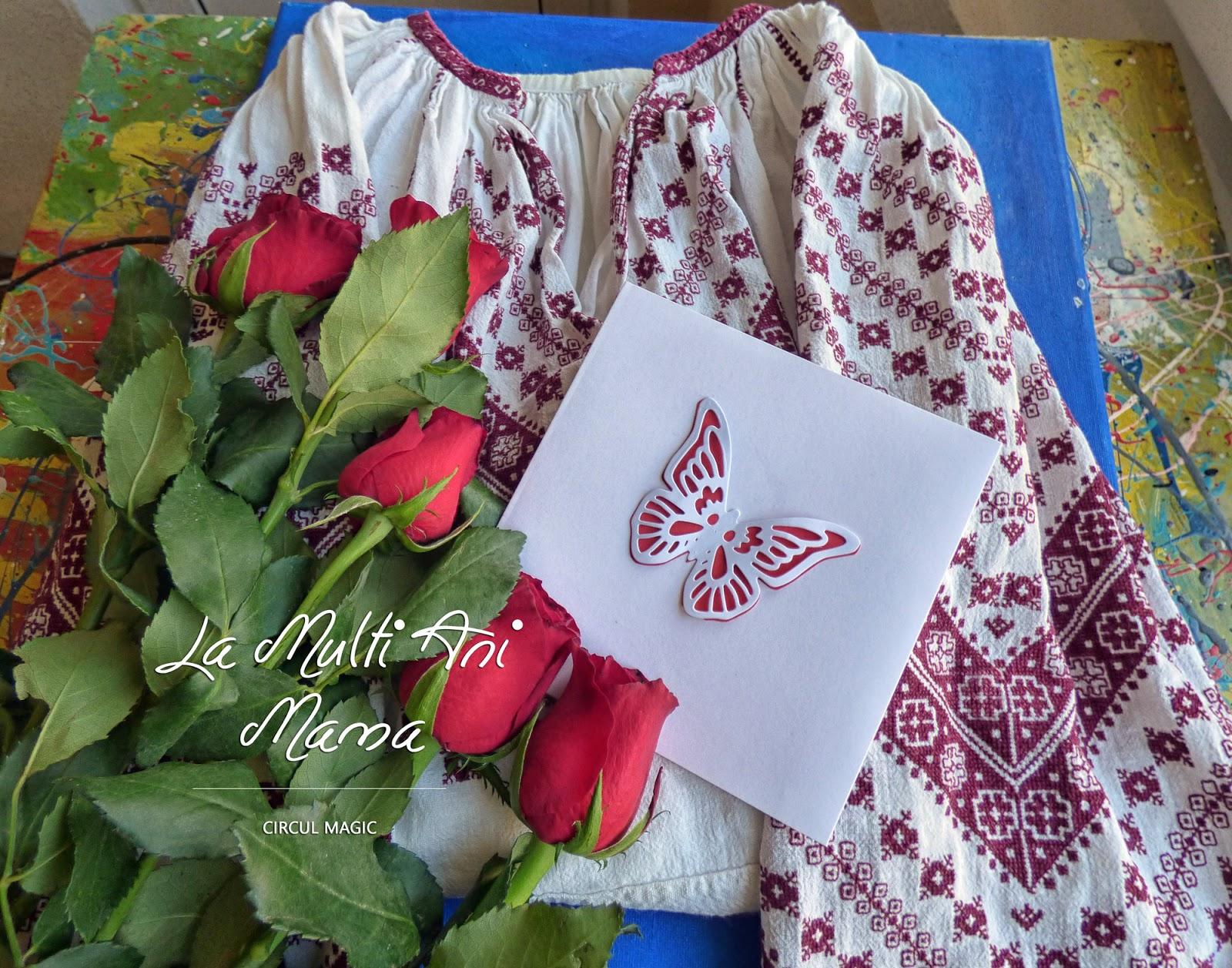 La Multi Ani Mama - 8 Martie 2017 - Ie Trandafiri Fluture Felicitare