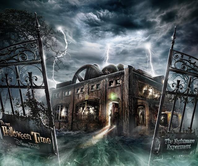 Professor J T Wu, The Nightmare Experiment, logo, official Hong Kong Disneyland, 2016 Halloween, 香港迪士尼樂園, Halloween Time, poster, 反轉迪士尼, 詭夢實驗室, 大街詭異酒店, Main Street Haunted Hotel