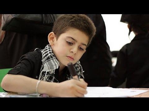 طفل سورى يرسم صوره للنبى محمد تهز العالم !! انظر ماذا رسم