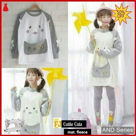 AND227 Sweater Wanita Cuttie Cats Sweatee BMGShop