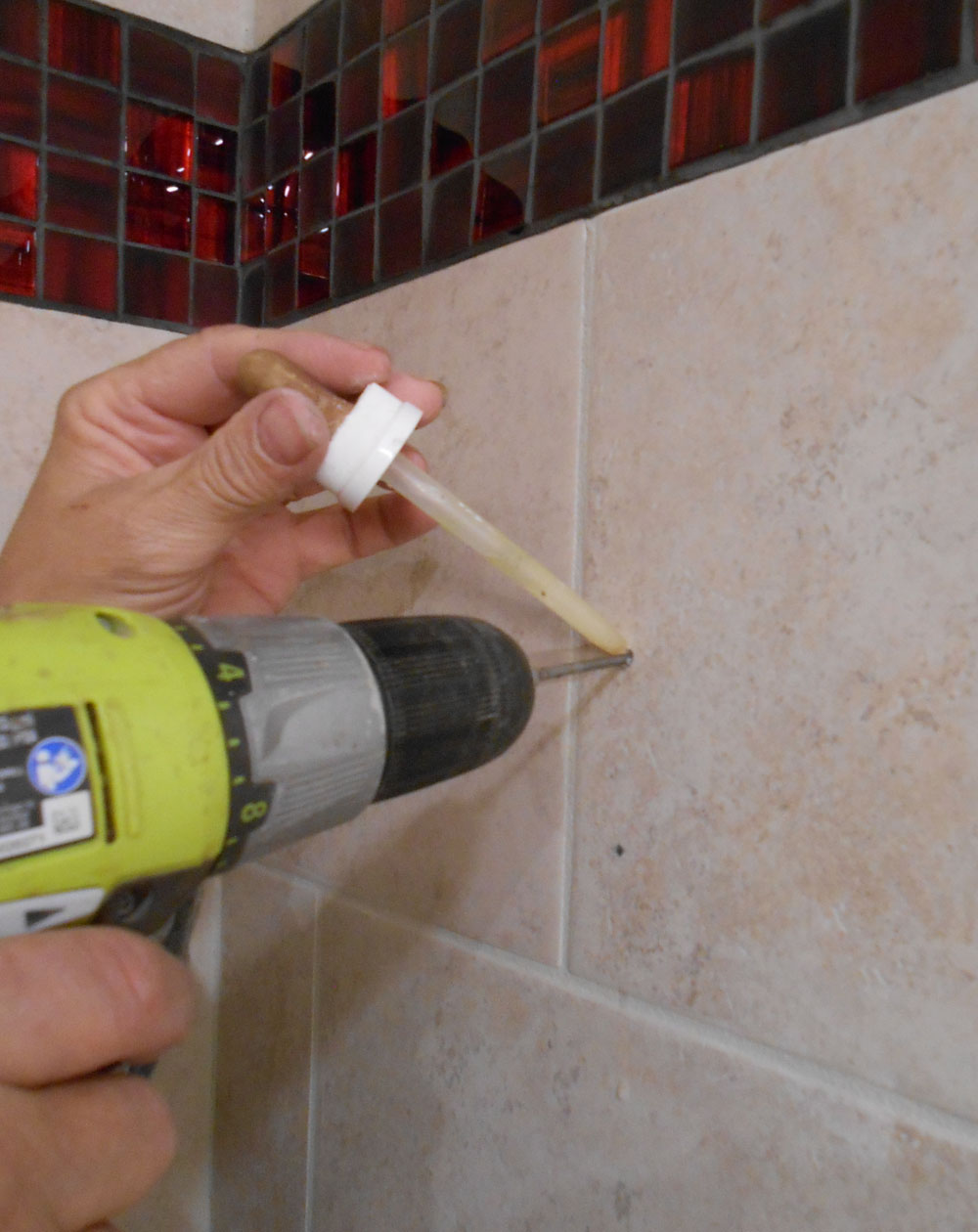 drilling a hole in ceramic tile