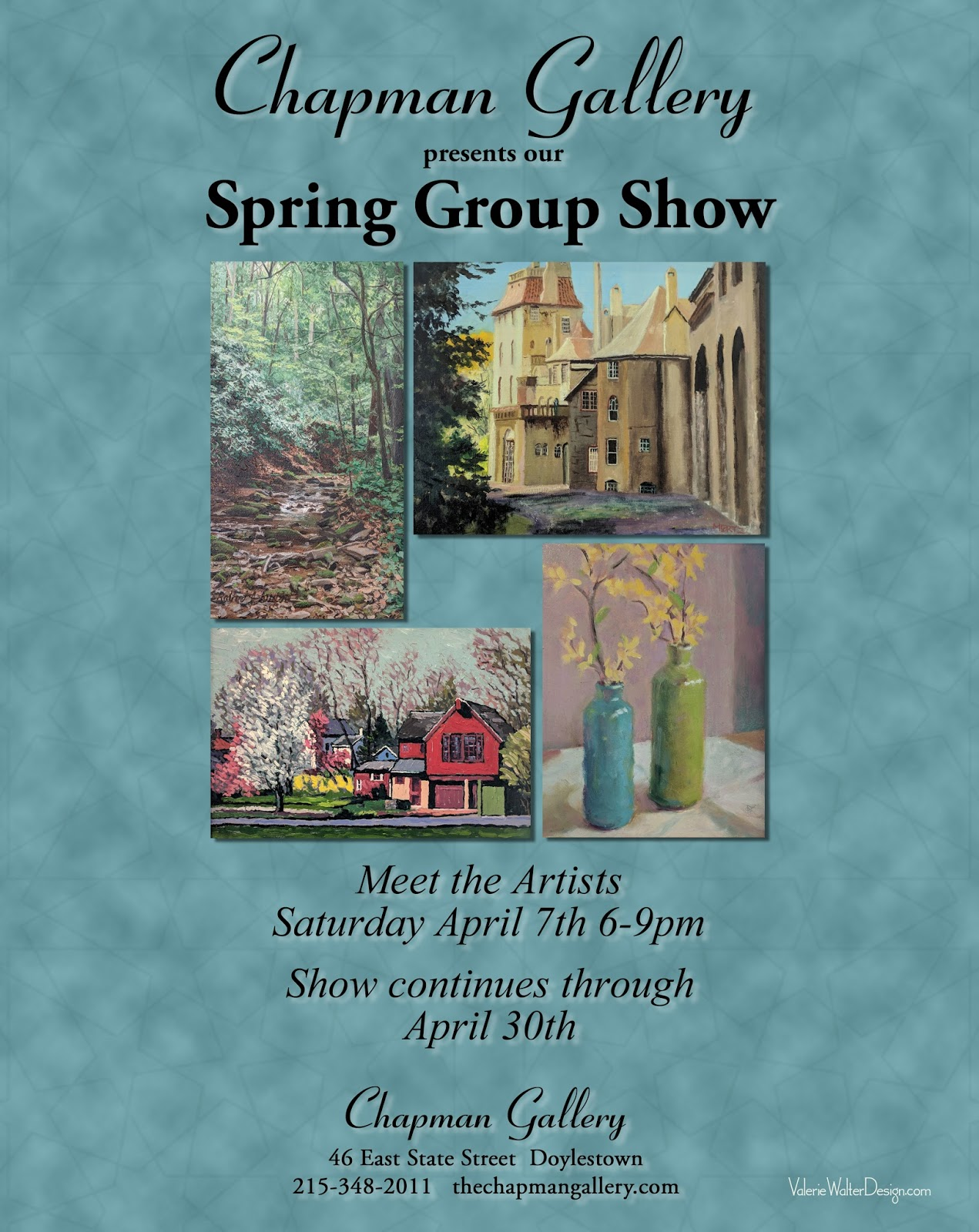 Chapman gallery bucks county spring group art show for Craft shows in bucks county pa