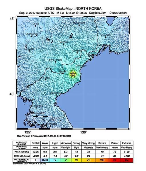 Dos terremotos en Corea del Norte por  posible prueba nuclear