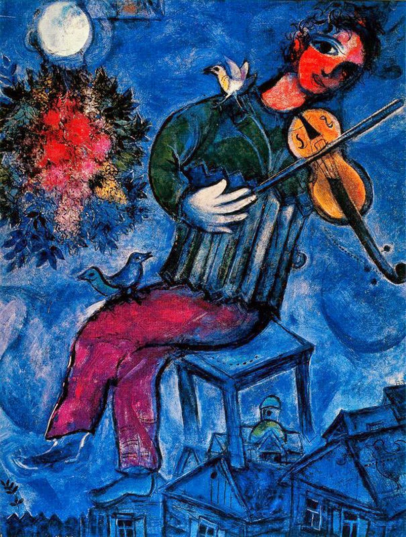 O Violinista Azul - O Surrealismo glorioso de Marc Chagall