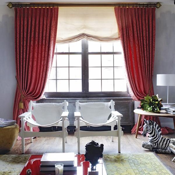 tirai yang dirancang biar terlihat elok dan melengkapi seluruh desain atau warna ruang  Koleksi Tirai Cantik untuk Ruang Tamu