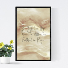 Joy, Patience Christian Scriptures Framed Print, Wall Frame, Wall Art