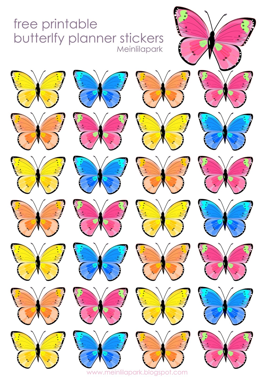 How To Make A 3d Paper Butterfly Free Printable