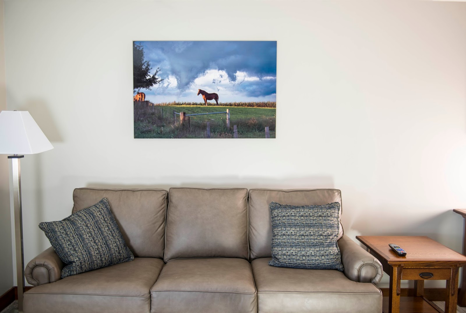 The Luxury Suite At The Blue Gate Garden Inn, Shipshewana Has A Couple Of  Our Images Printed On Metal. Here Is One Hanging In The Living Room.