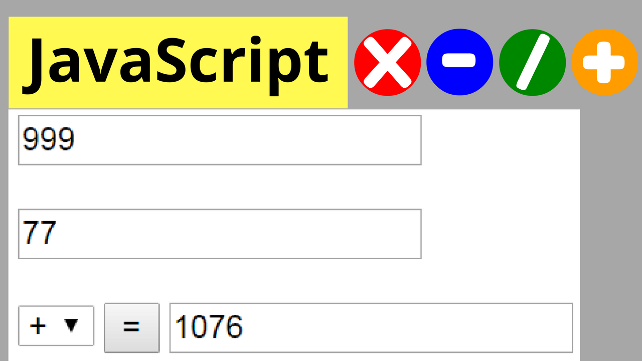 javascript calculate numbers addition subtraction  javascript calculate 2 numbers