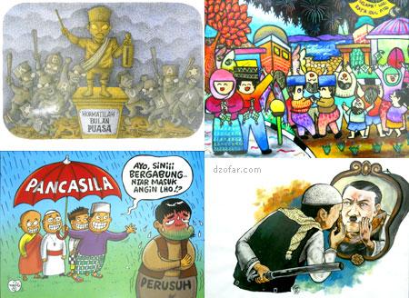 Beberapa gambar kartun di Festival Kartun Ramadhan