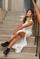 Actress Ishita Latest Stills in White Long Dress at Ippatlo Ramudila Seethala Evaruntaarandi Babu movie Audio Launch  05.jpg
