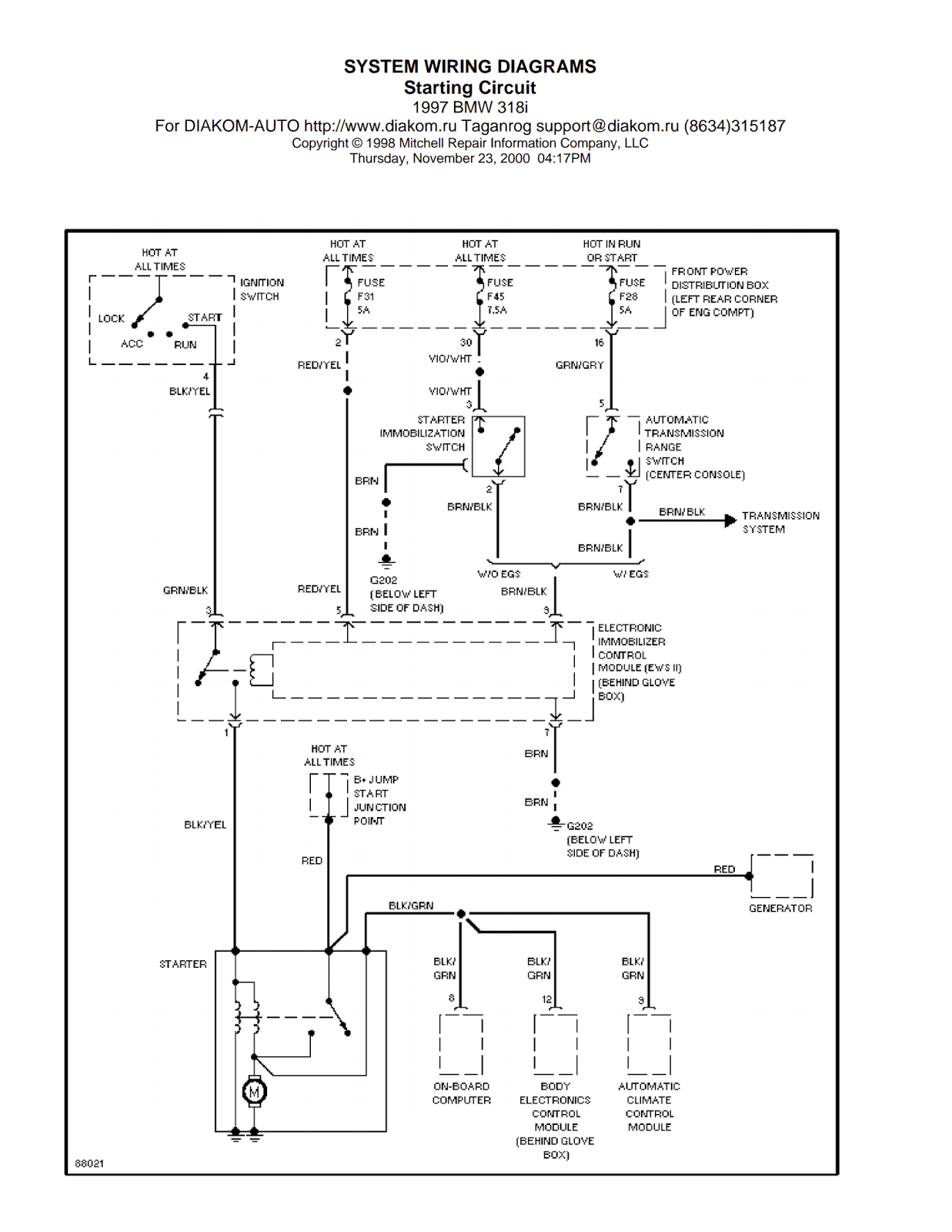 free bmw wiring diagrams