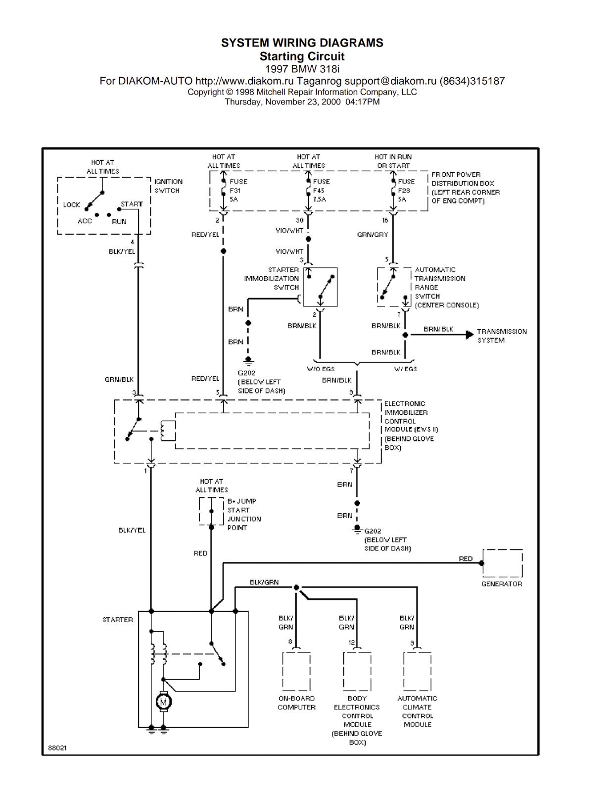bmw 318i interior fuse panel box