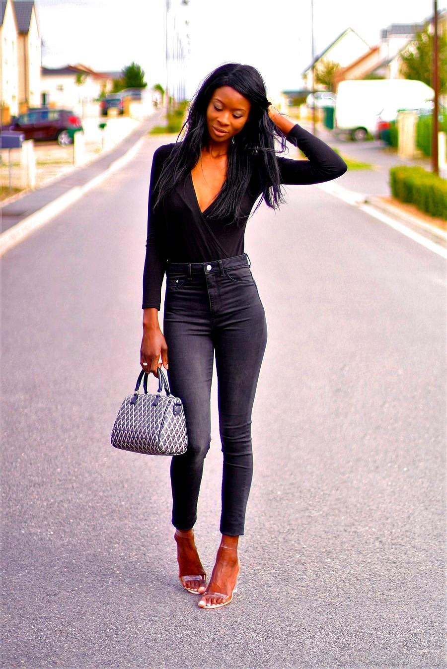 ootd-black-bodysuit-high-waist-jeans-perspex-heels-ikon-lancaster-bag