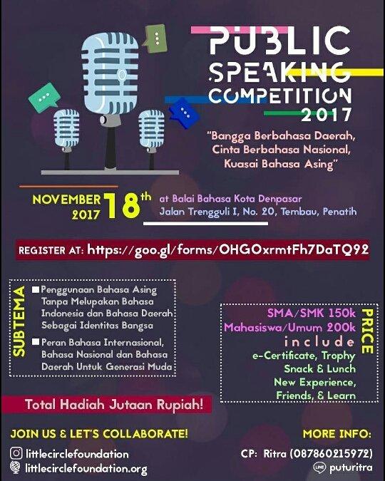 Lomba Pidato 3 Bahasa Untuk SMA Sederajat & Umum