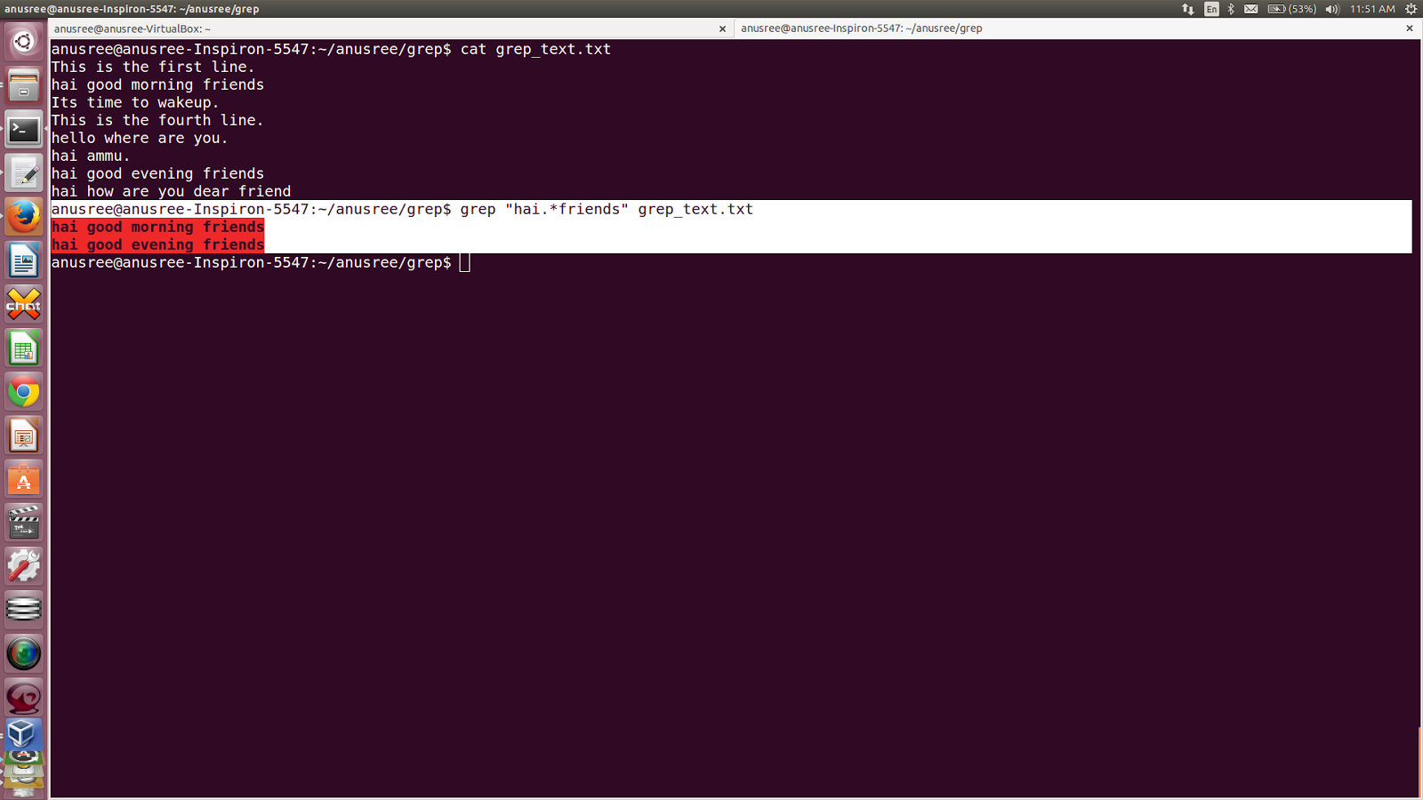 How to create html file in unix command