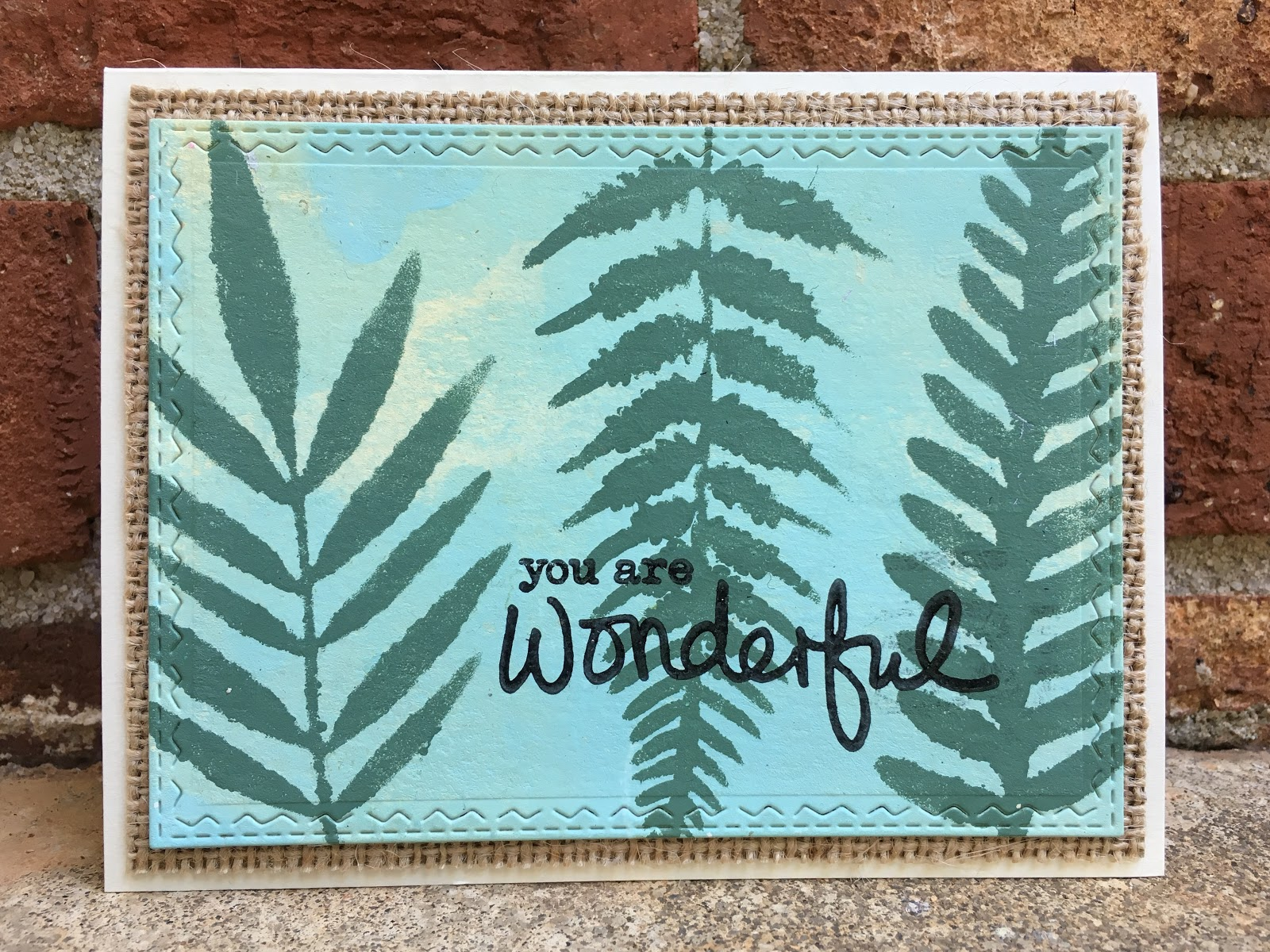 Make Your Own Fern Stencil and Painting